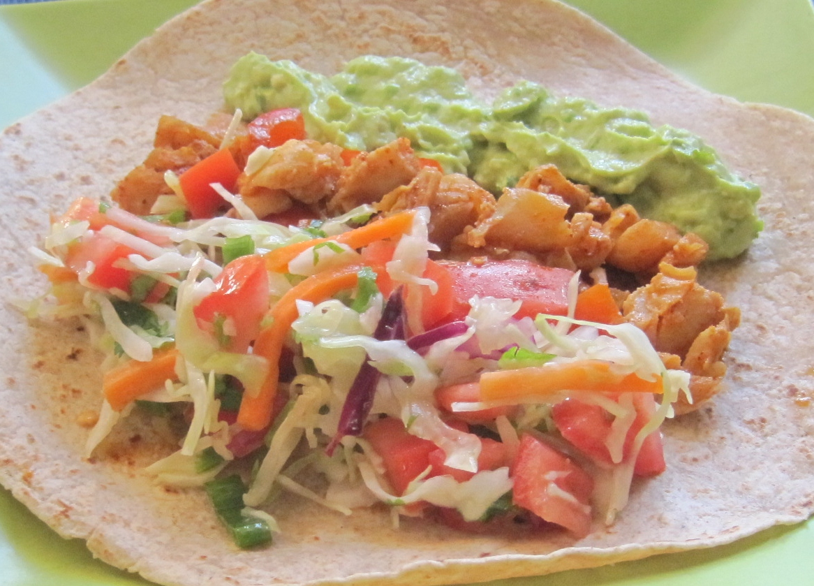 fish tacos with spicy slaw recipe dishmaps