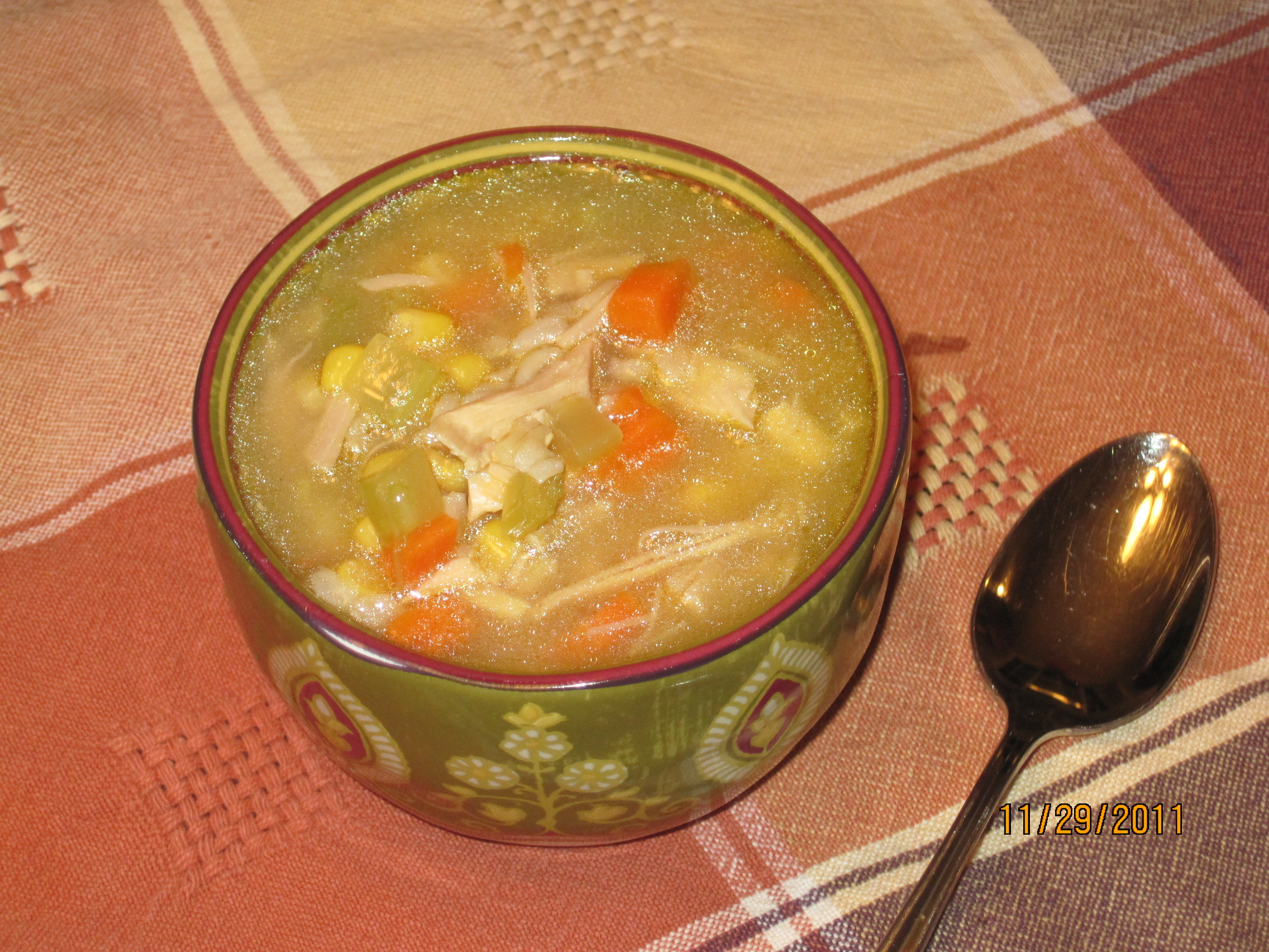 vegetables such as chunky turkey vegetable soup chunky turkey and