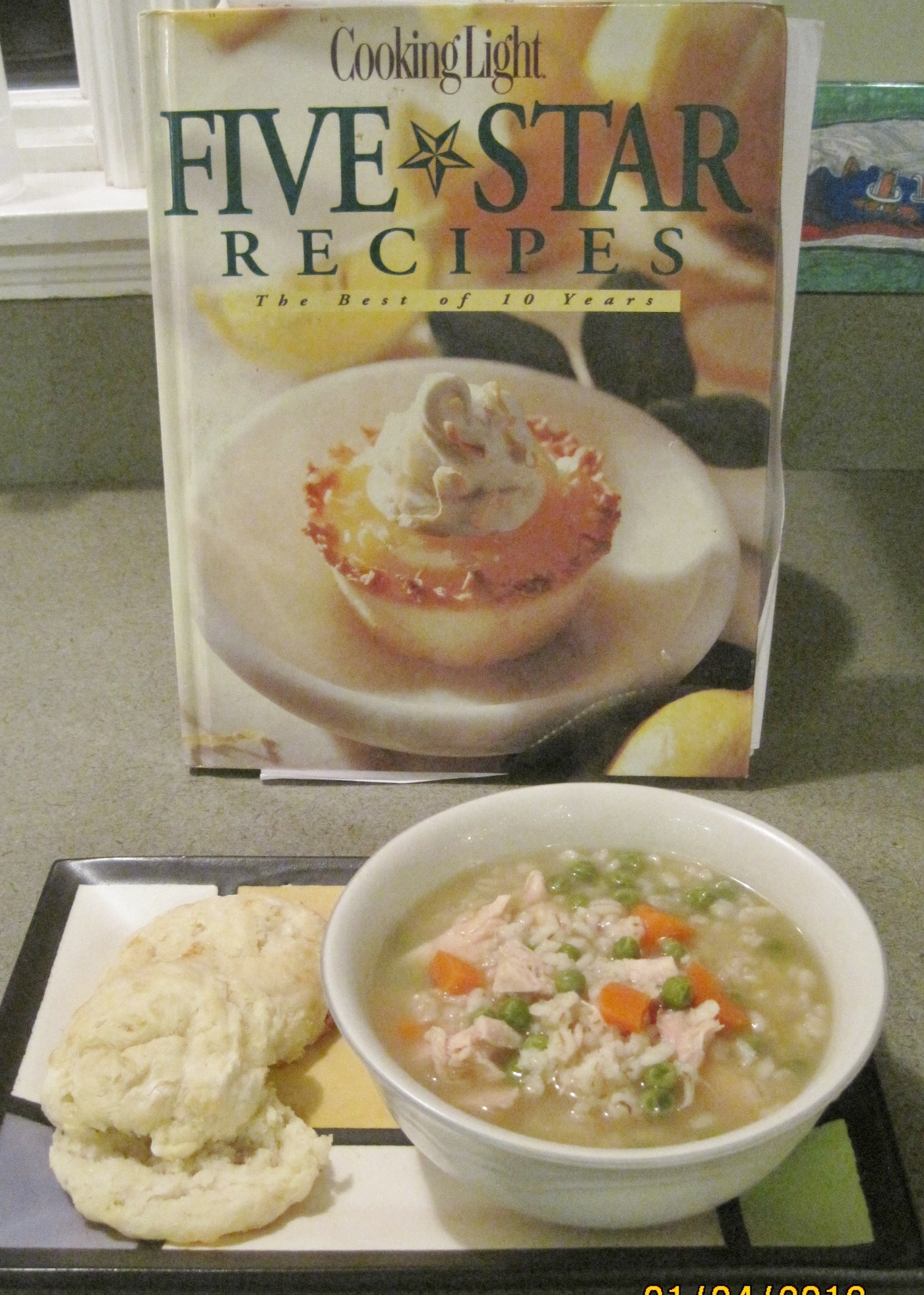 Chicken and Barley Soup with Buttermilk Cheddar Biscuits ...