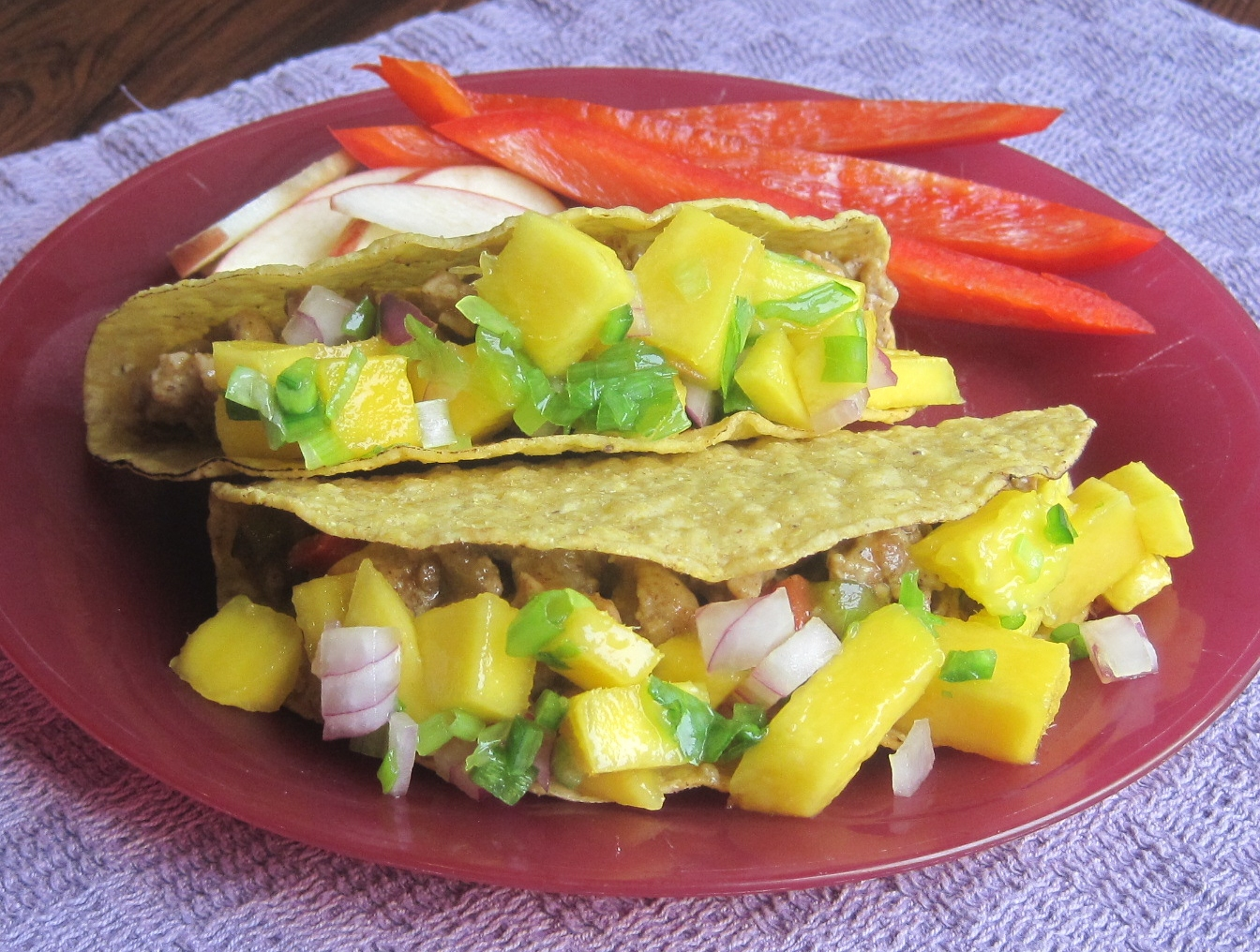 Taco Tuesday! Chicken Tacos with Mango Salsa - Juggling with Julia ...