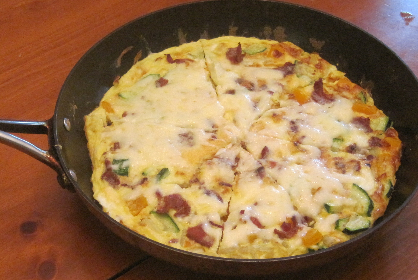 zucchini and chorizo caramelized onion frittata and zucchini frittata ...