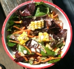 Corn, Parmesan, and Baby Greens with Balsamic Dressing -- Juggling With Julia